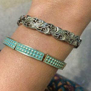 Lia Sophia stretch bracelets - Set of 2